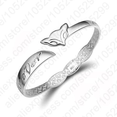 Women Bracelet Romantic Forever Bangle 925 Sterling Silver Fine Bracelets