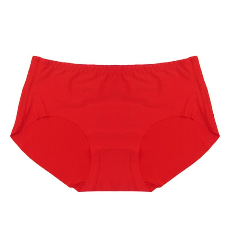 Women Briefs Cotton Ultra-Thin Underwear Panties Red Panties