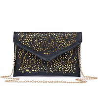 Women Clutch Hollow Out Pu Leather Clutch Vintage 2 Colors Black / (30Cm<Max Length<50Cm) Clutch