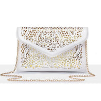 Women Clutch Hollow Out Pu Leather Clutch Vintage 2 Colors Clutch