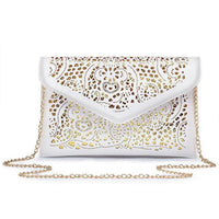 Women Clutch Hollow Out Pu Leather Clutch Vintage 2 Colors White / (30Cm<Max Length<50Cm) Clutch
