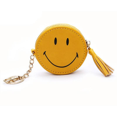 Women Coin Purse Smile Face Pu Leather Tassel Wallet 3 Colors Wallet