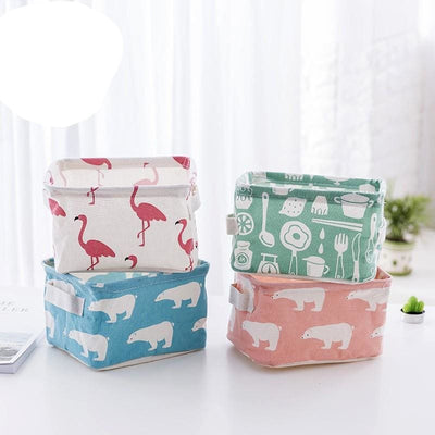 Women Cosmetic Bag Organizer Fordable Flamingo Toy Storage 6 Colors Cosmetic Bag