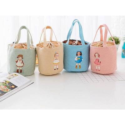 Women Cosmetic Bag Thermal Cooler Bag Insulated Bento Lunch Bag 4 Colors Lunch Bag