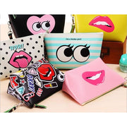 Women Cosmetic Bag Zipper Cosmetic Makeup Clutch Pouch 8 Designs Wallet