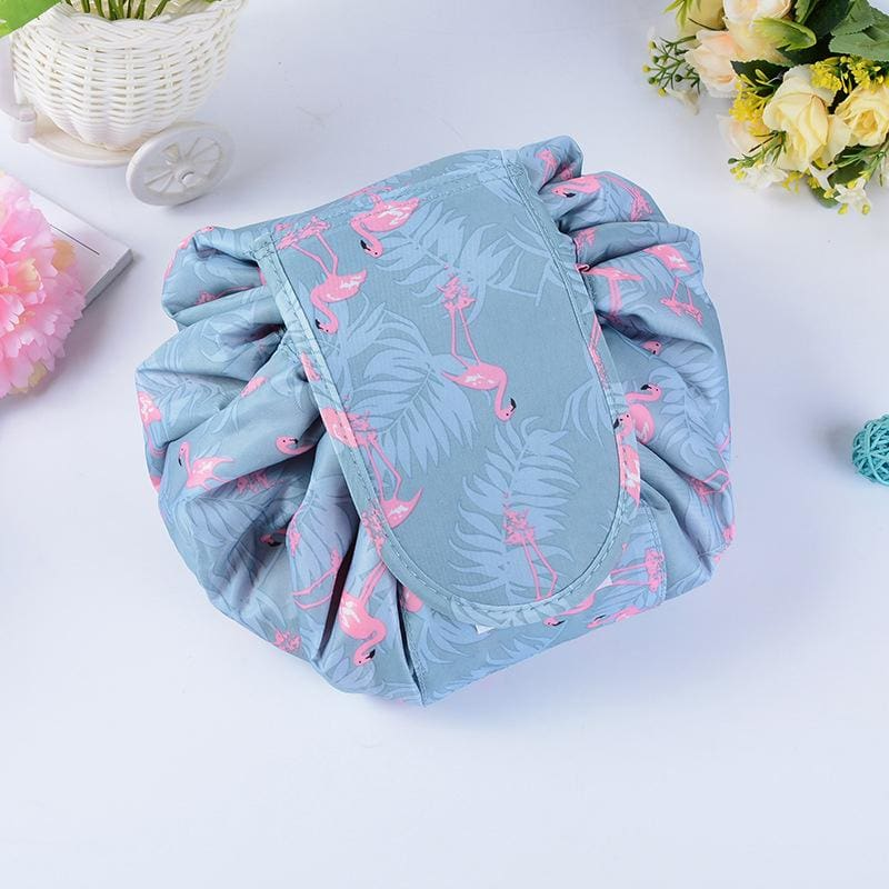 Women Cosmetic Bags Toiletry Organizer Pouch Travel Makeup Bag 3 Colors Flamingo Wallet