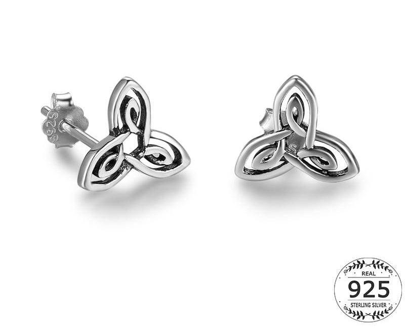 4c2cc48a5 Women Earring Antique 925 Sterling Silver White Gold Plated Small Star Stud Earrings  Fine Earrings