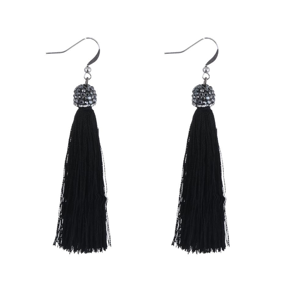 833e170a6e6bd2 Women Earrings Long Handmade Tassel Fish Hook Earrings As Picture 3 Earrings