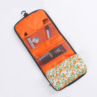Women Fordable Cosmetic Bag Organizer Travel Portable Case In 4 Colors Orange Cosmetic Bag