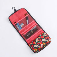 Women Fordable Cosmetic Bag Organizer Travel Portable Case In 4 Colors Rose Red Cosmetic Bag