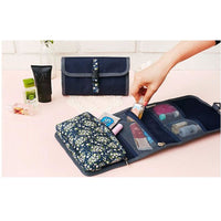 Women Fordable Cosmetic Bag Organizer Travel Portable Case In 4 Colors Cosmetic Bag