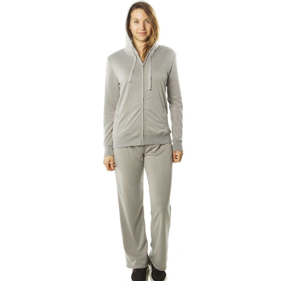 Women French Terry Hoodie Jacket And Pant Set Activewear