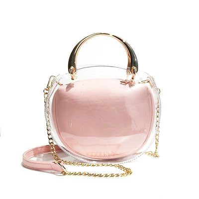 Women Handbag 2 Pcs Jelly Candy Waterproof Shoulder Bag 6 Colors Pink / 19X9X20Cm Shoulder Bag