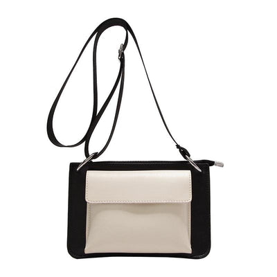Women Handbag 2 Tone Casual Quality Leather Cross Body Bag 3 Colors White / 23X15X3Cm Cross Body Bag