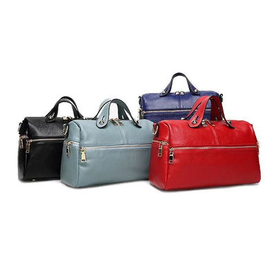Women Handbag Boston Zipper Litchi Leather Shoulder Bags 3 Colors Shoulder Bag