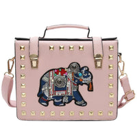 Women Handbag Elephant Leather Cross Body 4 Colors Pink / 20X16X6Cm Cross Body