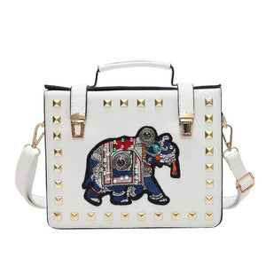 Women Handbag Elephant Leather Cross Body 4 Colors White / 20X16X6Cm Cross Body