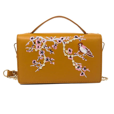 Women Handbag Embroidery Flower Cross Body Bag 6 Colors Cross Body