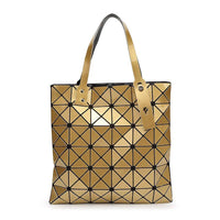 Women Handbag Folded Geometric Plaid Casual Tote Bag In 13 Colors Gold / (30Cm<Max Length<50Cm) Tote Bag