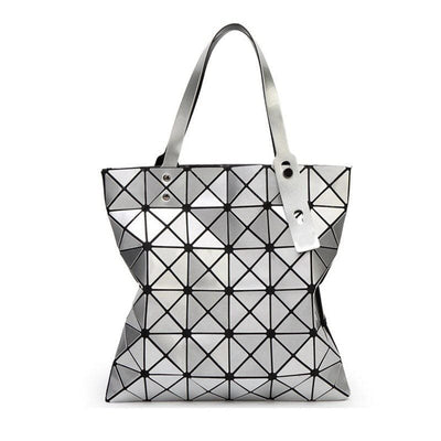 Women Handbag Folded Geometric Plaid Casual Tote Bag In 13 Colors Tote Bag