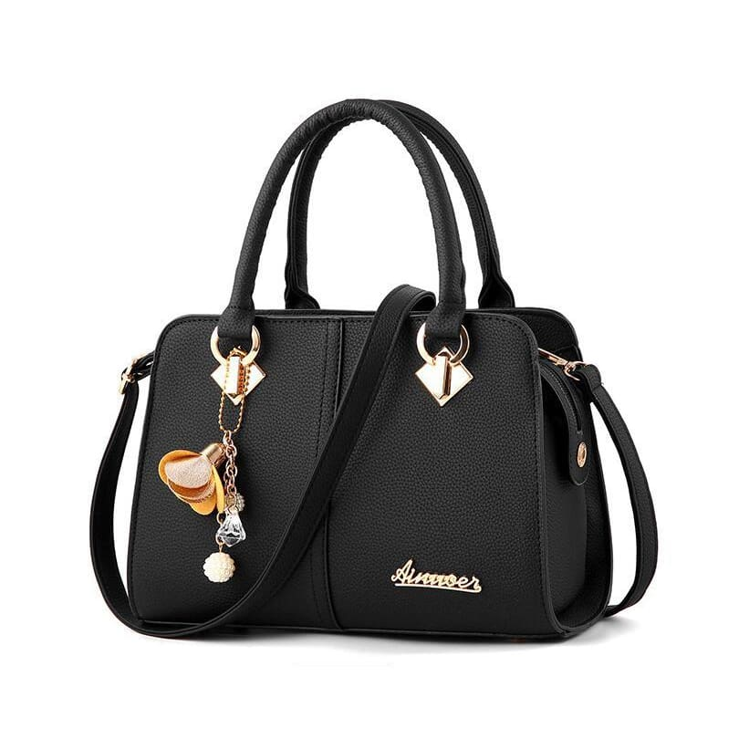 Women Handbag Hardware Ornaments Solid Shoulder Bag 6 Colors Black / (20Cm<Max Length<30Cm) Shoulder Bag