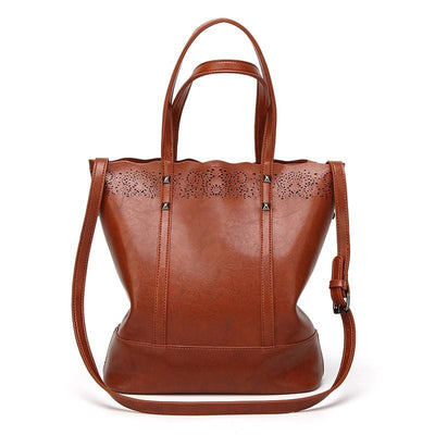 Women Handbag High Quality Leather Casual Tote Bag Hollow Out 4 Colors Tote Bag