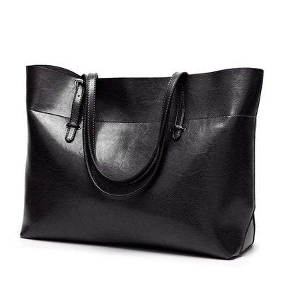 Women Handbag High Quality Leather Tote Bag In 11 Colors Black2 / 30X35X13Cm Tote Bag