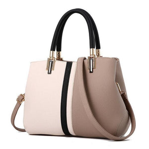 Women Handbag High Quality Pu Leather Zipper Style Evening Satchel Bag In 5 Colors Khaki / (20Cm<Max Length<30Cm) Satchel