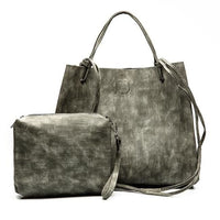 Women Handbag Large Capacity Luxury Solid Tote Bag 4 Colors Gray / 33X13X27Cm Tote Bag