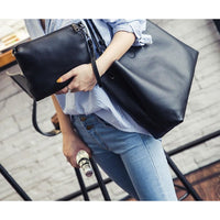 Women Handbag Large Capacity Luxury Solid Tote Bag 4 Colors Tote Bag