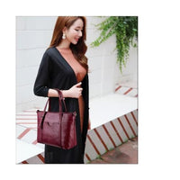 Women Handbag Leather 2 Pcs Set Top-Handle Tote Bags Big Capacity Tote Bag