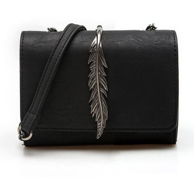 Women Handbag Leaves Decoration Suede Pu Leather Shoulder Bag 5 Colors Shoulder Bag