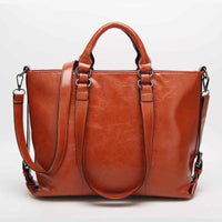 Women Handbag Lichee Dual Side Buckle Belt Shoulder Bag In 6 Colors Brown2 / 33X27X12Cm Shoulder Bag