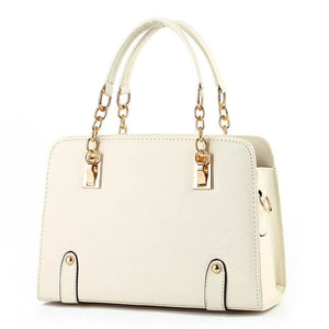 Women Handbag Luxury High Quality Chain Satchel Bag In 4 Colors Beige / 30X20X12Cm Satchel
