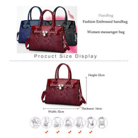 Women Handbag Luxury Leather High Quality Satchel Bag In 4 Colors Satchels