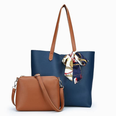 Women Handbag Pu Leather High Quality Pu Leather Tote Bag 4 Colors Deep Blue Tote Bag
