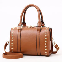 Women Handbag Quality Leather Casual Shoulder Bags In 6 Colors Brown / 25X15X18Cm Shoulder Bag