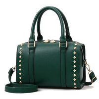 Women Handbag Quality Leather Casual Shoulder Bags In 6 Colors Green / 25X15X18Cm Shoulder Bag