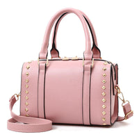 Women Handbag Quality Leather Casual Shoulder Bags In 6 Colors Pink / 25X15X18Cm Shoulder Bag