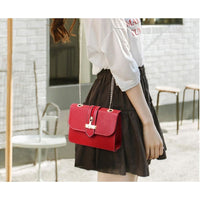 Women Handbag Quality Leather Chain Strap Cross Body Bag In 6 Colors Cross Body Bag