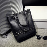 Women Handbag Rivet Autumn Large Capacity Shoulder Tote Bag 3 Colors Tote Bag