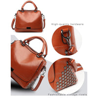 Women Handbag Rivet High Quality Pu Leather In 3 Colors Satchels