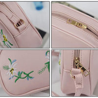 Women Handbag Summer Pu Leather Floral Flap Cross Body 5 Colors Cross Body Bag
