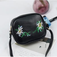 Women Handbag Summer Pu Leather Floral Flap Cross Body 5 Colors Black / Mini(Max Length<20Cm) Cross Body Bag