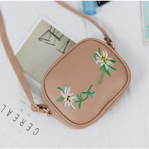 Women Handbag Summer Pu Leather Floral Flap Cross Body 5 Colors Khaki / Mini(Max Length<20Cm) Cross Body Bag