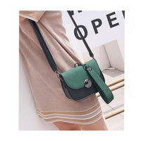 Women Handbag Vintage Saddle Pu Leather Shoulder Bag In 3 Colors Shoulder Bag