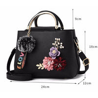 Women Handbag With Flowers Details Satchel Bag In 6 Colors Satchel
