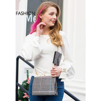 Women Handbag Woolen Composite Chain Cross Body Bag Cross Body
