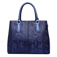 Women Handbags Pu Leather Luxury Snake Design High Quality Satchel 4 Colors Satchels
