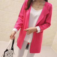 Women Long Cardigan Autumn Winter Outerwear Coat In 4 Colors Red / S Fall Sweater